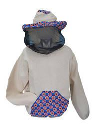 Куртка пчеловода с маской без змейки, хлопок, размер 50-52