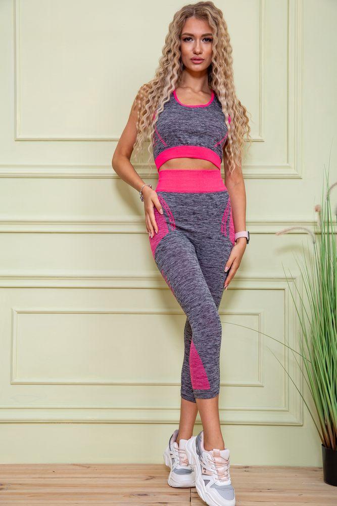 Фитнес костюм 131R132891 цвет Серо-малиновый