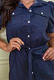 Сукня-сорочка 167R281 колір Синій 46, фото 5