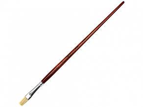 Пензлик художній Santi Studio щетина,плоска,довга ручка 310714 7