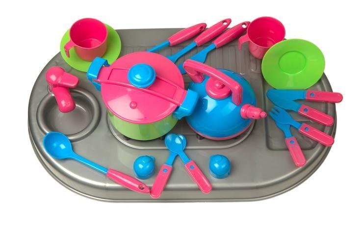 SALE Посуд з мийкою і плитою KINDERWAY