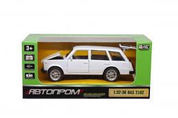 Игрушка машина ВАЗ 2102, белый, 1:32-1:36, Автопром