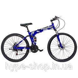 """Складаний Велосипед 26"""" BeGasso Soldier рама 17"""" синій колір на зростання 155-185 см"""