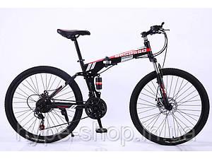 """Складаний Велосипед 26"""" BeGasso Soldier рама 17"""" чорно-червоний колір на зростання 155-185 см"""