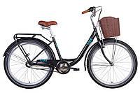 """Велосипед 26"""" Dorozhnik LUX планет. 2021 (черный с синим (м))"""