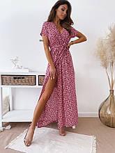 Женское платье, супер - софт, р-р универсальный 42-46; 48-52 (красный)
