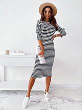 Женское платье, турецкая вискоза, р-р С-М; Л-ХЛ (чёрный)