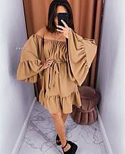Женское платье, супер - софт, р-р универсальный 42-46 (кэмел)