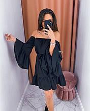Женское платье, супер - софт, р-р универсальный 42-46 (чёрный)