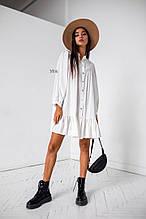 Женское платье, супер - софт, р-р универсальный 42-46 (белый)