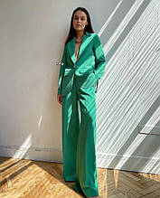 Женский костюм, костюмка люкс, р-р С-М; М-Л (зелёный)