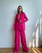 Женский костюм, костюмка люкс, р-р С-М; М-Л (малиновый)