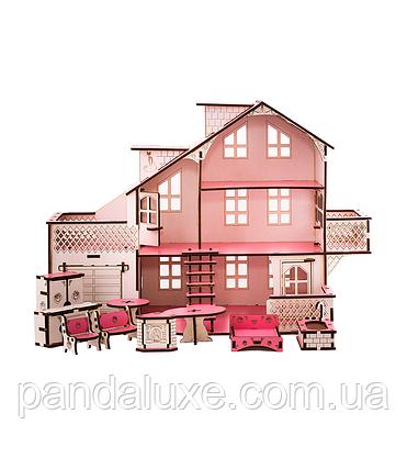 Детский кукольный дом с гаражом В011 и подсветкой, фото 3