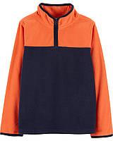 Флісовий реглан поддева для хлопчика Oshkosh помаранчево-синя