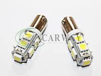 Лампа світлодіодна LED BA9S SMD5050x9 12V White 2шт, фото 1
