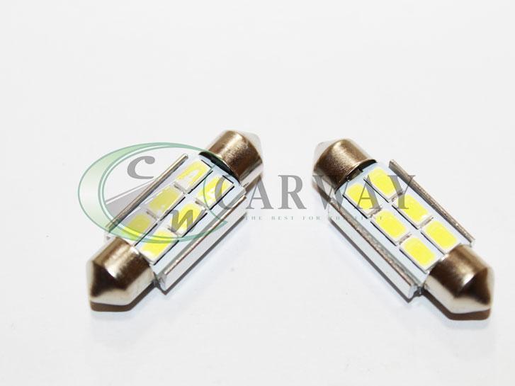 Лампа светодиодная Festoon/36mm Canbus SMD 5730x6 12V White (2шт)