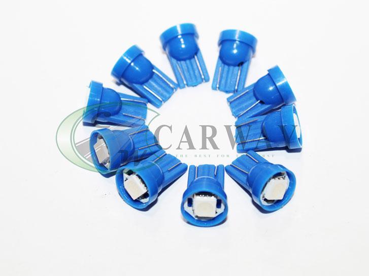 Лампа светодиодная T10 SMD5050x1 12V Blue 10шт TB1109 Zollex