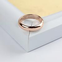 Обручальное кольцо розовая позолота, 18, 21 р.