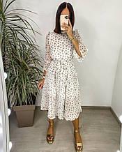 Женское платье, шифон, р-р 42-44; 46-48 (белый)