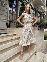 Женское платье, шелковый софт, р-р 42-44; 46-48 (молочный)