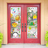 Наклейки декоративні Великодні вінілові на вікна комплект з 9 листів Дизайн №1 Код 10-0001, фото 2
