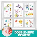 Наклейки декоративні Великодні вінілові на вікна комплект з 9 листів Дизайн №1 Код 10-0001, фото 3