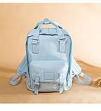 Рюкзак Doughnut Macaroon Pastel женский городской рюкзак голубой  Код 11-1004, фото 2