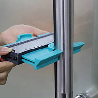 Линейка измерительная Wolfcraft Контурный шаблон для измерения очертаний углов контуров