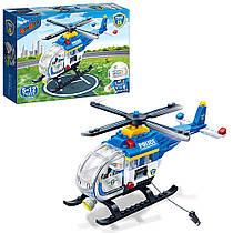 """Пластиковий конструктор """"Поліція: Вертоліт"""", 122 дет 7008"""