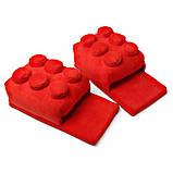 М'які кімнатні капці конструктор Лего, домашні тапочки Lego сині Код 14-2797, фото 10