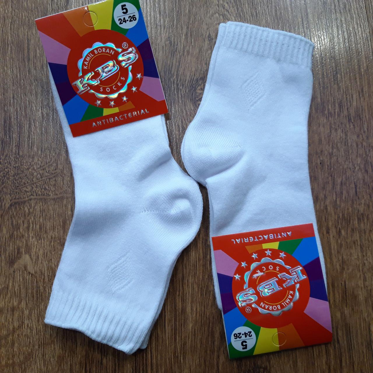 """Шкарпетки дитячі стрейчеві бавовна""""KBS"""" Туреччина Білі"""