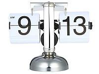 Часы в ретро стиле, перекидные Flip Clock Белый