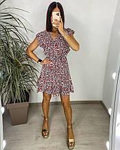 Женское платье, хлопковый штапель, р-р 42-44; 46-48 (белый)