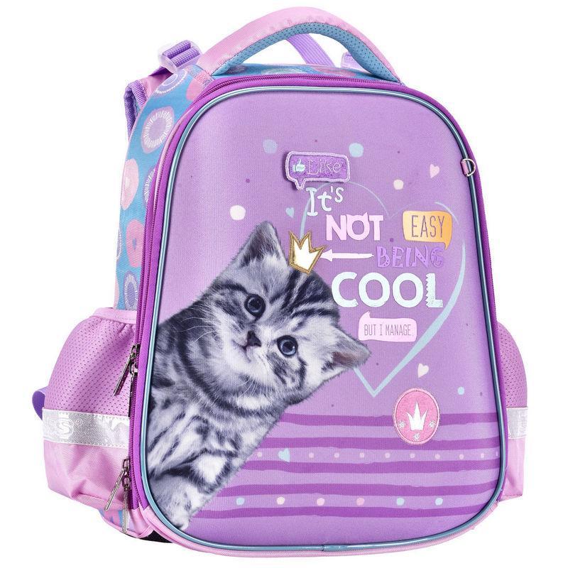 Рюкзак 2111C каркасный CLASS SchoolCase Cool Cat 2 отделения 2111C