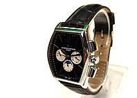 Мужские часы в стиле Vacheron на черном ремешке, механика с автозаводом