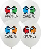 Повітряні латексні кульки амонг ас 12 дюймів набір 10 шт