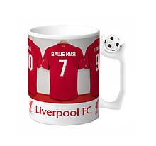 """Чашка с футбольным мячиком на ручке """"Я в Ливерпуле"""""""