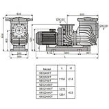 Aquaviva Насос Aquaviva LX SEQ1500 (380 В, 168 м3/ч, 15HP), пластиковая подставка, фото 2