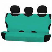 Накидка на сиденья автомобиля задняя Milex, без подголовников из хлопока зеленые (279868)