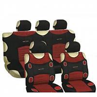 Майки Мilex для автомобиля, Prestige полный к-т (2+2) из полиэстера черно/вишневое (7249)