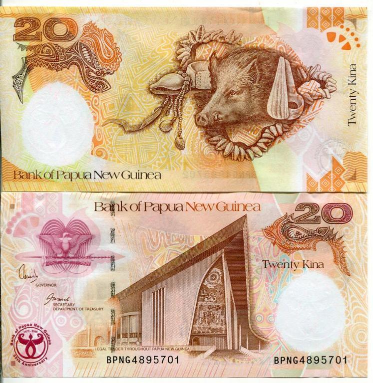 Папуа Нова Гвінея 20 кіна 2008 UNC №1