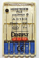 H-File 25мм, уп.6шт, №030, Dentsply Maillefer