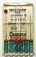 H-File 25мм, уп.6шт, №035, Dentsply Maillefer