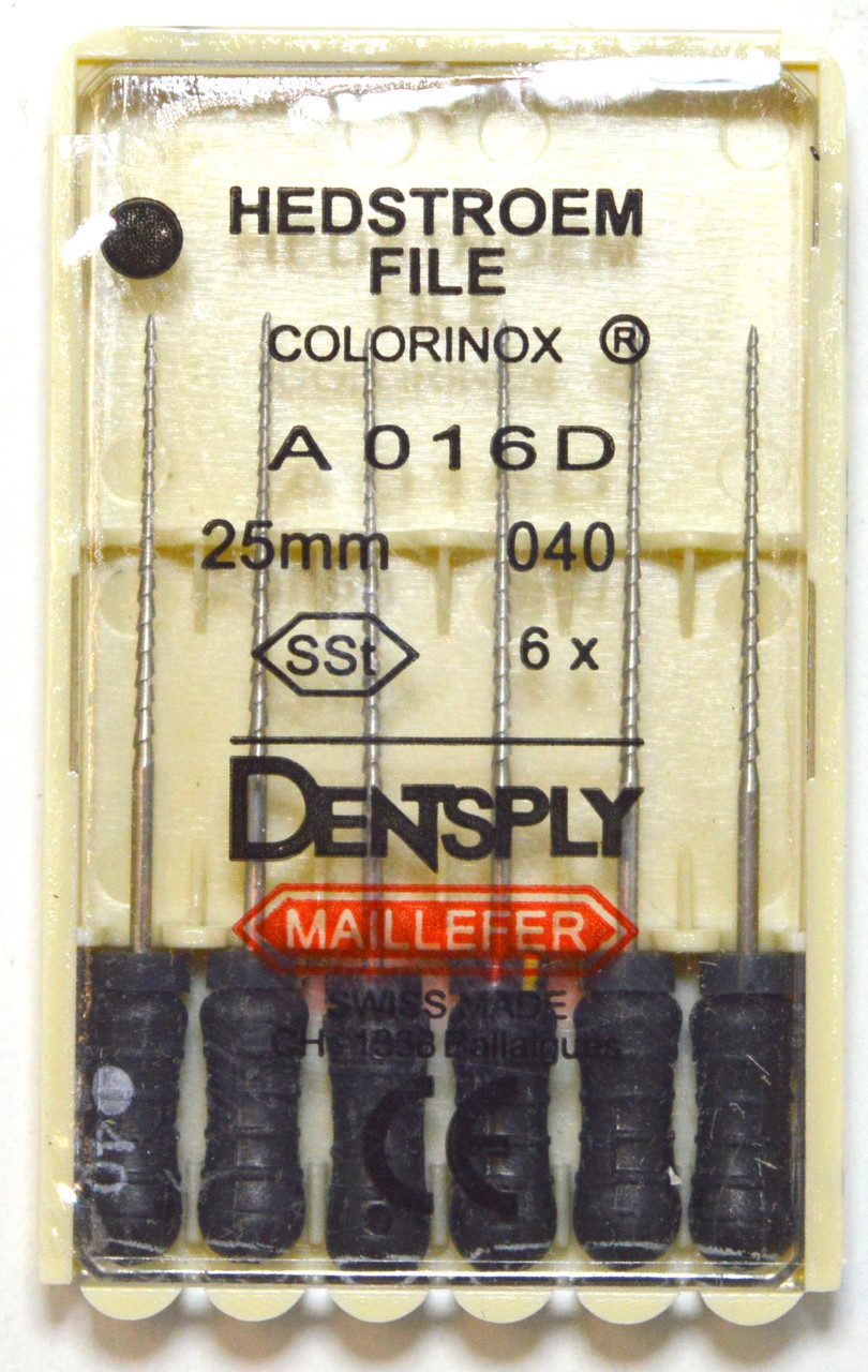 H-File 25мм, уп.6шт, №040, Dentsply Maillefer
