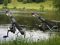 Удочки дальнего заброса 2,1м Рыболовный набор 2шт спиннинги в сборе с катушкой + подставки в подарок