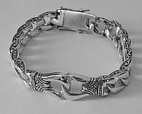 Серебряный мужской браслет с кельтским узором, срібний браслет чоловічий срібло, фото 1