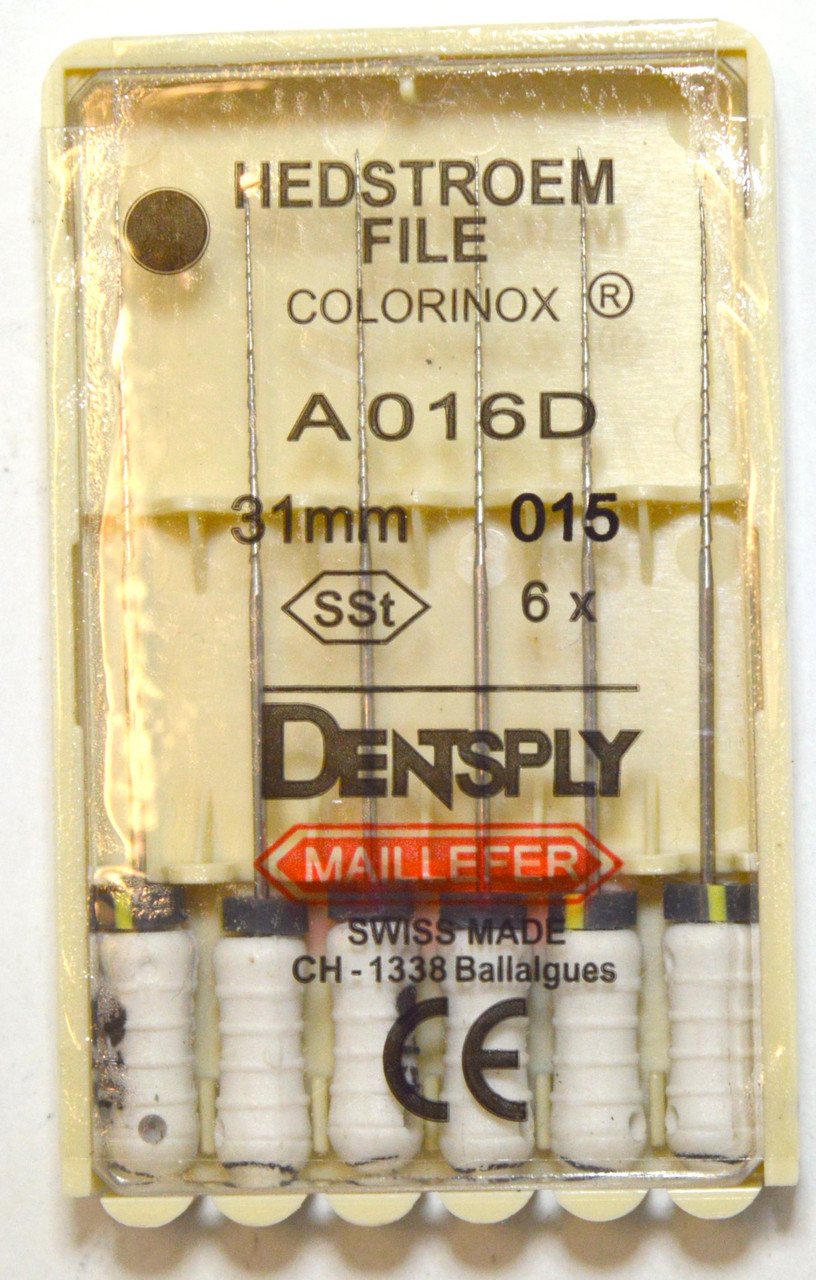 H-File 31мм, уп.6шт, №015, Dentsply Maillefer