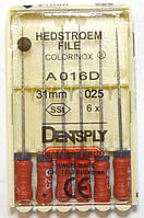 H-File 31мм, уп.6шт, №025, Dentsply Maillefer