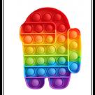 Поп іт Змінює колір Єдиноріг, Амонг Ас Райдужний, Антистрес Pop It, пупырка, поп іт, фото 2