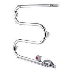 Полотенцесушитель электрический Qtap Snake shelf (CRM) 500х500 RE с полотенцедержателем